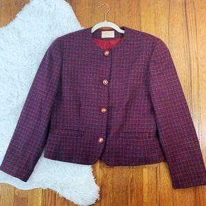 Vintage Pendleton Houndstooth Wool Blazer SZ 10